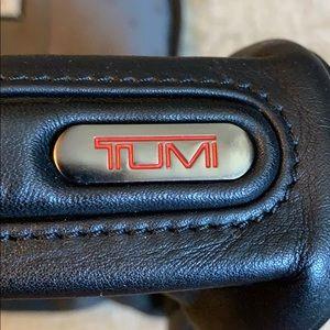 TUMI leather travel kit